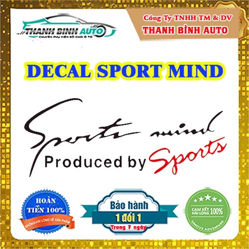 Miếng dán Sport mind