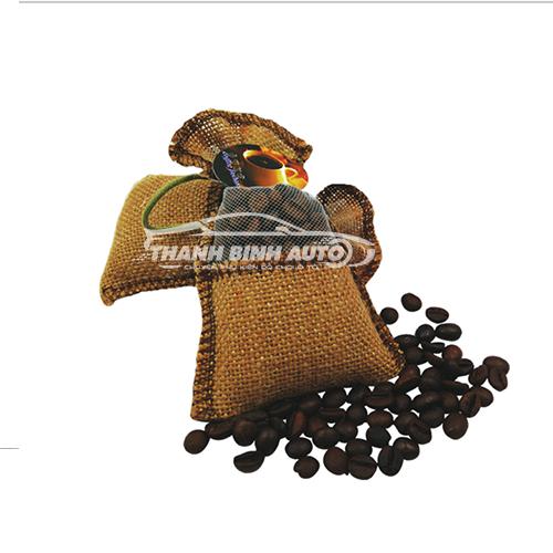 Túi thơm cà phê treo xe ô tô